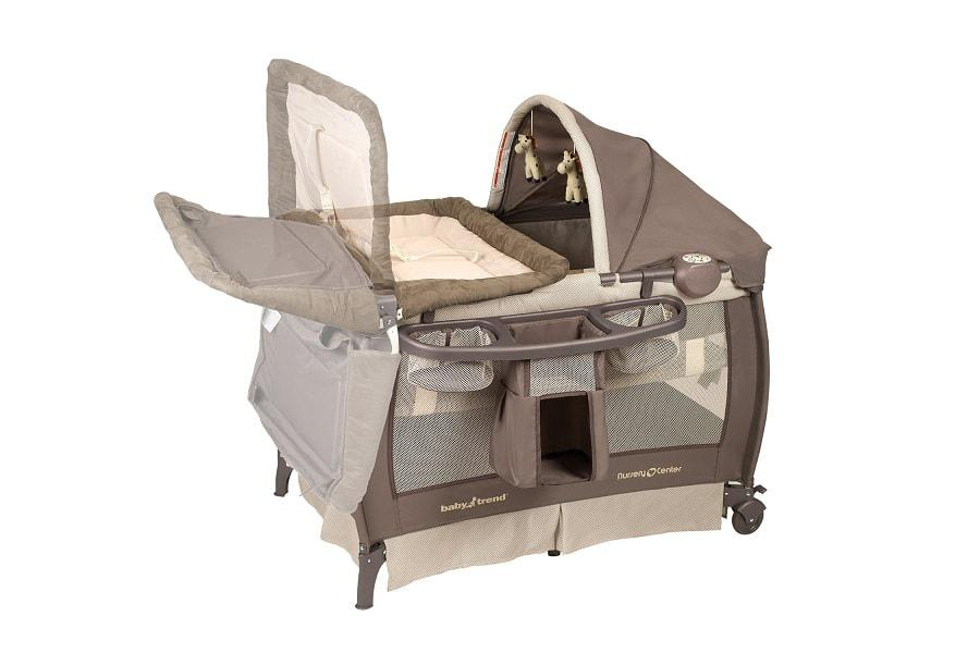 a famous playard from Baby Trend