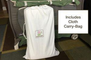 a convenient cloth bag to transport a folding pack and play mattress