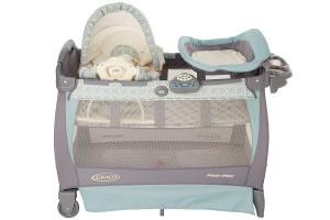 another view on the graco playard bassinet with rocking seat
