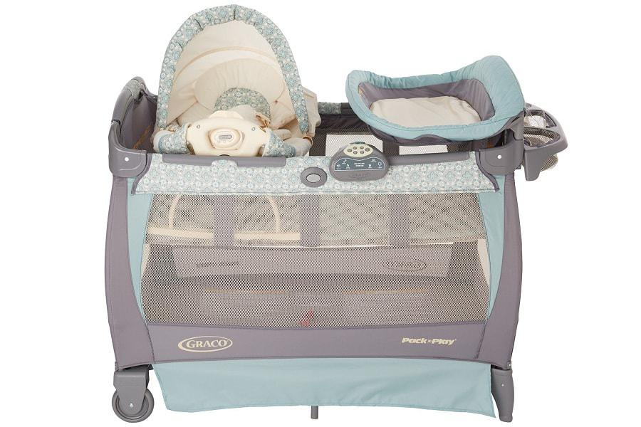 e8a70a7f988 another view on the graco playard bassinet with rocking seat