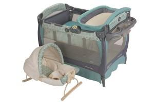disassambling a graco playard bassinet with rocking seat