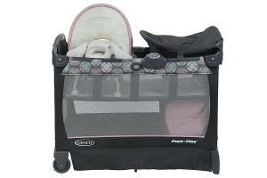 the front side of the graco addison playard