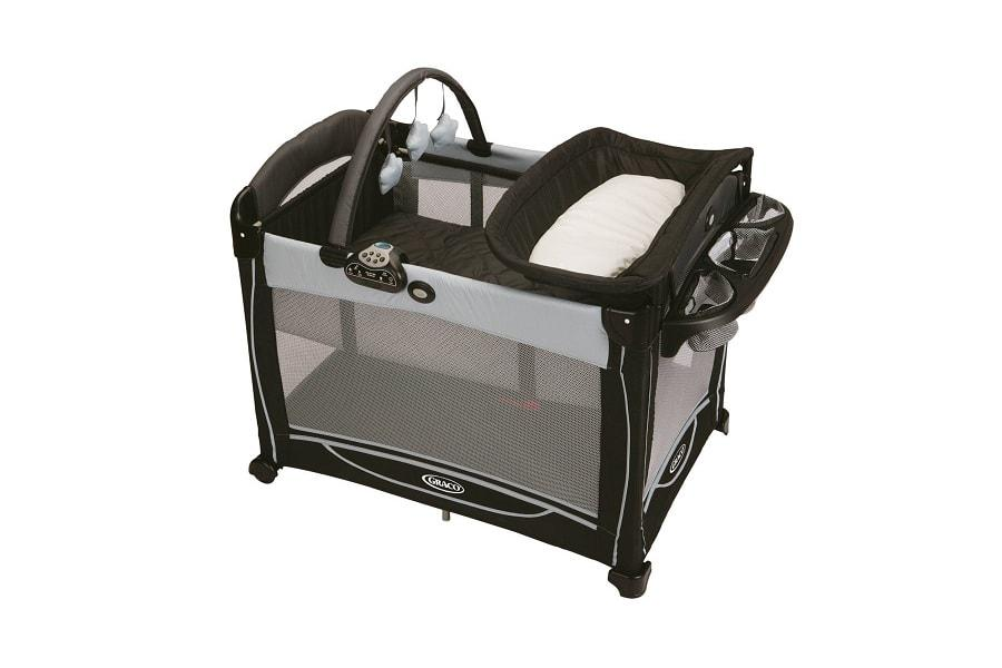 a nice playard with bassinet from Graco