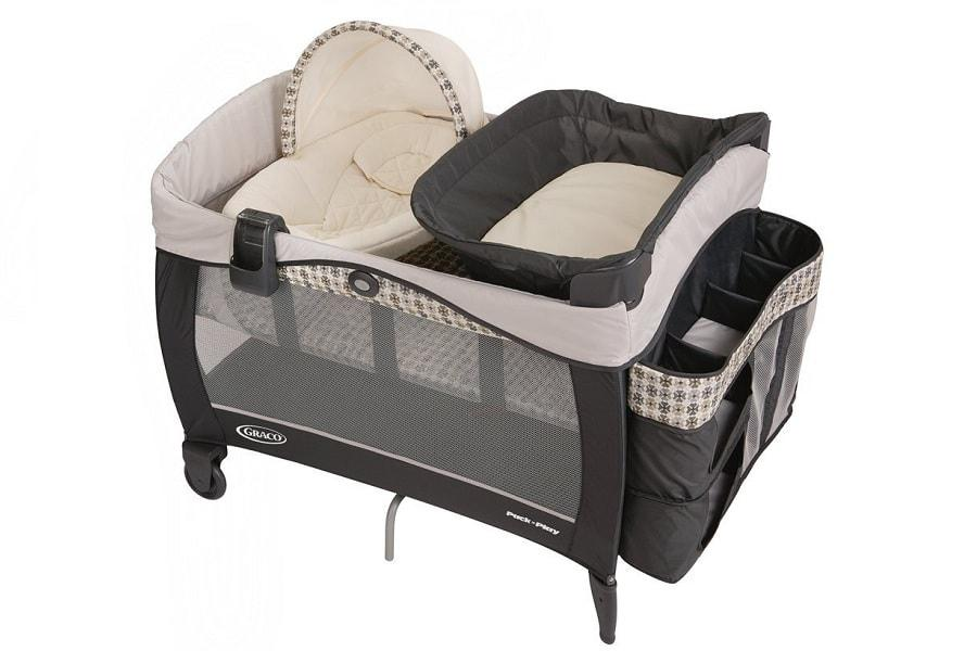a nice graco pack n play with a canopy