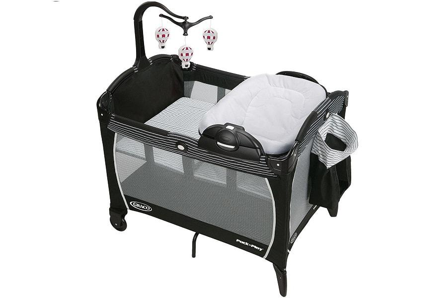 a nice playard with a portable napper and changer