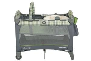 the front part of the graco pack and play with reversible napper changer