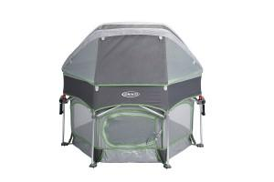 a convenient playard with a canopy