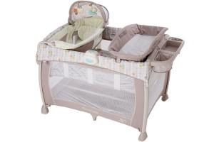 a high quality playard with a canopy by ingenuity