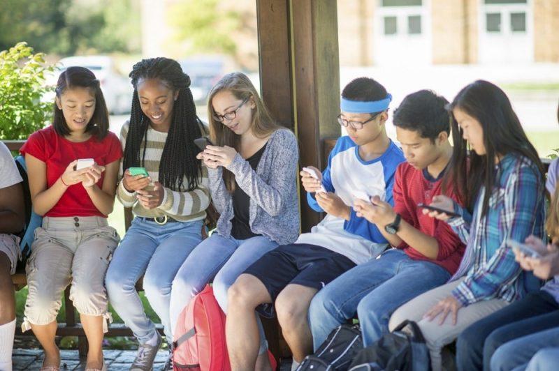 Teens browsing social networks